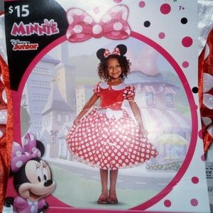 NWT Child's Minnie Mouse Costume M (8-10) Disguise